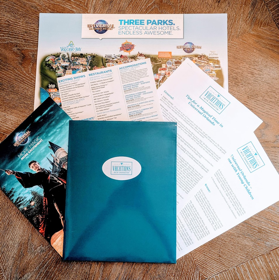 Universal Park Map, Tip Sheets, and More provided with every package by Vacations with Character®