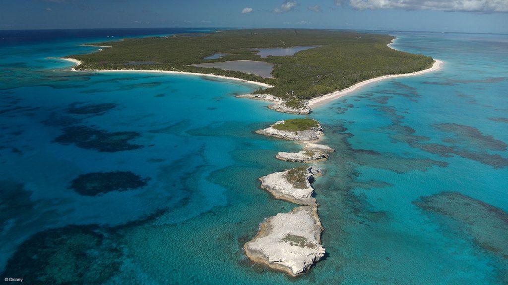 Arial photo of Bahamian Island to be transformed for DIsney Cruise Line