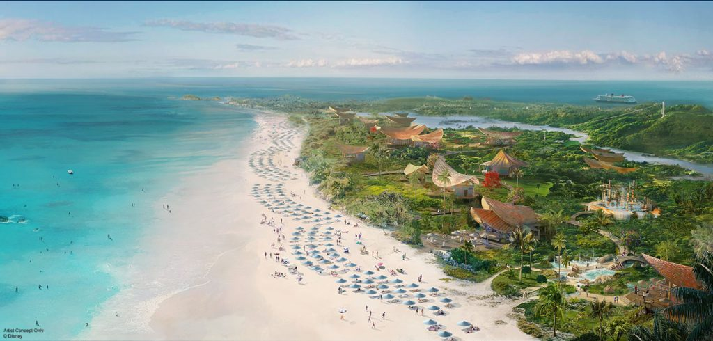 Lighthouse Point will be a new Disney-owned and -managed port of call for Disney Cruise Line. The signature island experience will celebrate the spirit and culture of The Bahamas. (Disney)