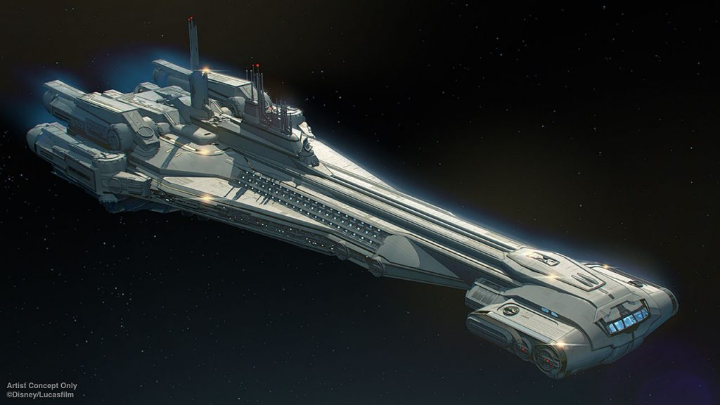 tar Wars: Galactic Starcruiser will be a new, first-of-its-kind vacation experience where Guests will check in for a two-night adventure aboard a glamorous starship.  Once onboard, Guests will interact with characters and become active participants in stories that unfold around them on their galactic journey.