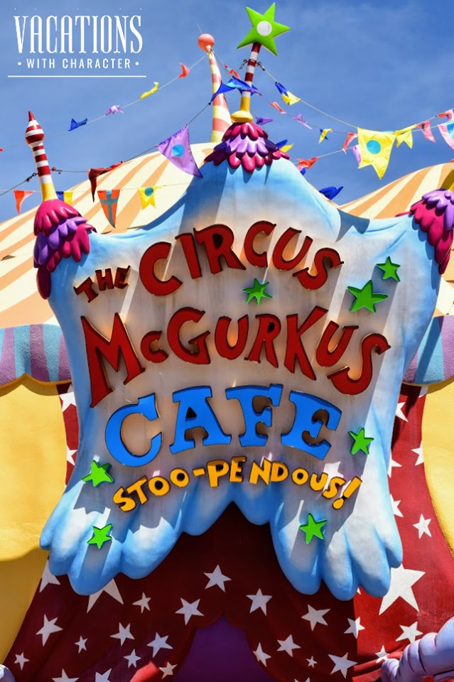 Sign for Circus McGurkus Cafe Stoo-Pendous