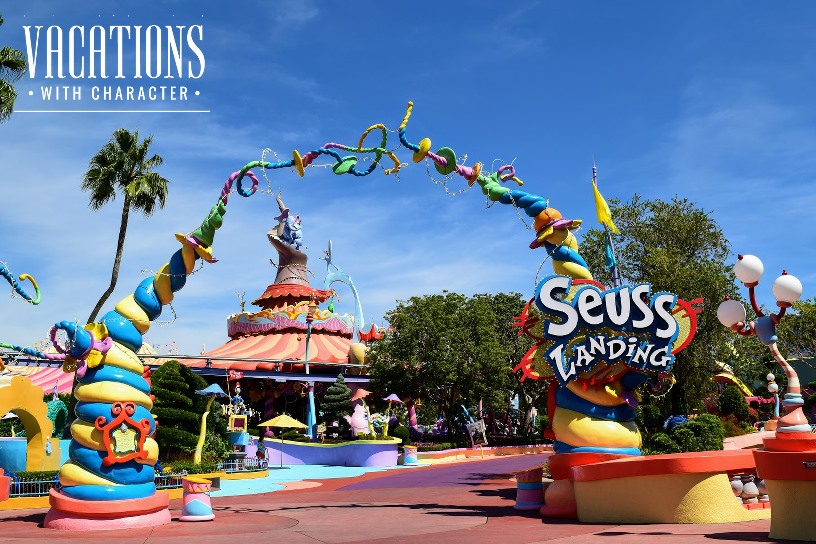 Colorful Entrance to Suess Landing
