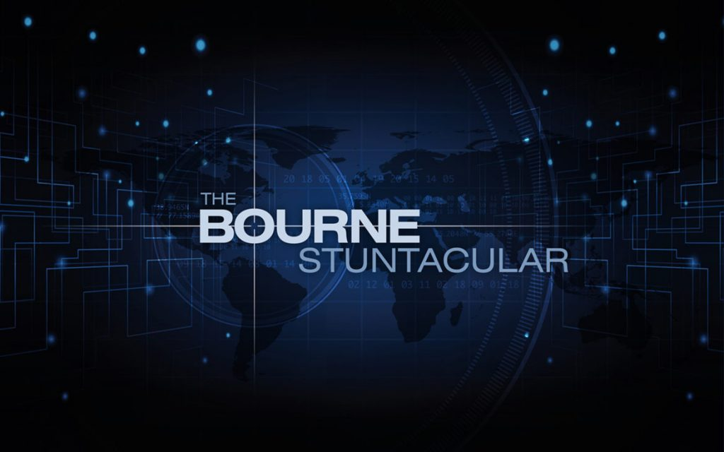 Bourne Stuntacular Logo and Background
