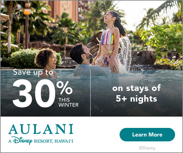 Disney's Aulani 30% off Sale